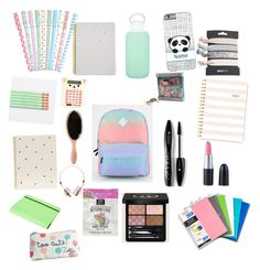 """School supplies"" by disney-fangirl on Polyvore featuring interior, interiors, interior design, home, home decor, interior decorating, Vans, Sugar Paper, bkr and Gucci"