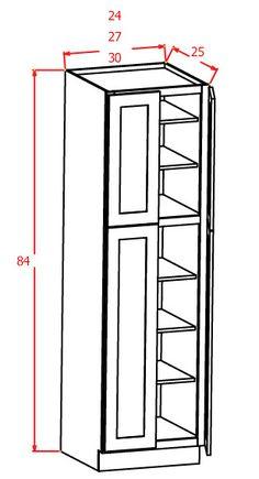 """84""""H - Wall Pantry Double Door"""