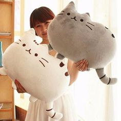 Novelty item soft plush stuffed animal doll,talking anime toy pusheen cat for girl kid;kawaii,cute cushion brinquedos, birthday US (Somebody made Pusheen) ; Kawaii Pusheen, Chat Pusheen, Pusheen Cat Plush, Chat Kawaii, Kawaii Cat, Kawaii Shop, Kawaii Stuff, Pet Toys, Doll Toys