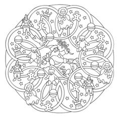 Mandala 615, Christmas Designs 3D Coloring Book, Dover Publications