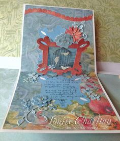 Sizzix pop n cut (Memory box flowers) and K and Co papers