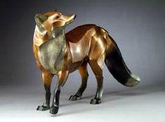 Red Fox: Wildlife art bronze sculpture by artist and sculptor Jan Rosetta