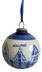 Delft Blue ChristmasBall Ornaments. $15.95