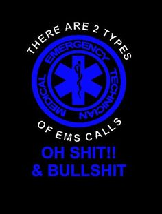 Funny Black EMT shirt by Niwid on Etsy, Ems Humor, Medical Humor, Ecards Humor, Nurse Humor, Ems Quotes, Nurse Quotes, Emergency Medical Technician, Emergency Medical Services, Paramedic Quotes