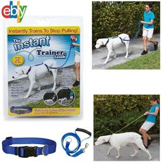 Instant Trainer Dog Leash Trains Dogs 30 Lbs Stop Pulling As Seen On Tv Dogwalk #AsSeenOnTV