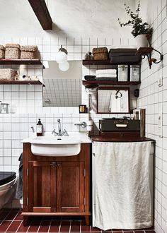 La preciosa casa en Estocolmo con un maravilloso sabor antiguo.