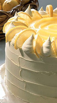 Lemon Curd Layer Cake [with my friends Meyer lemon trees, they will let me use fruit for anything they get to try! Lemon Curd Dessert, Lemon Desserts, Lemon Recipes, Delicious Desserts, Lemon Cakes, Coconut Cakes, Lemon Curd Cake, Citrus Cake, Layer Cake Recipes