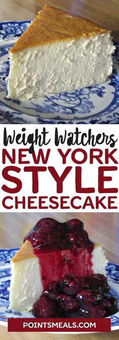 Weight Watchers New York Style Cheesecake Weight Watcher Desserts, Weight Watchers Cheesecake, Weight Watchers Diet, Ww Recipes, Easy Healthy Recipes, Easy Dinner Recipes, Appetizer Recipes, Breakfast Recipes, Easy Meals