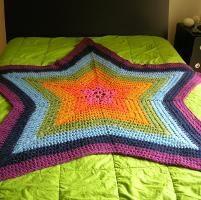 Crochet Star afghan - free pattern