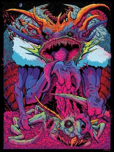 Cosmic Monsters by Brock Hofer, via Behance
