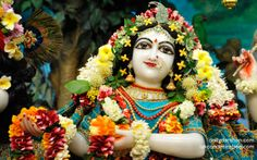 To view Radha Close Up Wallpaper of ISKCON Chowpatty in difference sizes visit - http://harekrishnawallpapers.com/srimati-radharani-close-up-wallpaper-064/