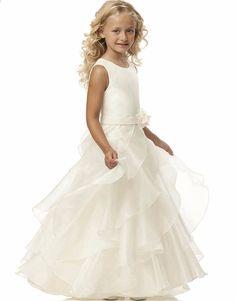 19a6fe9e77a086 2017 schoonheid-Emily bloemenmeisje jurken wit   ivoor echte partij  communie jurk meisjes kinderen   kinderen jurk voor bruiloft