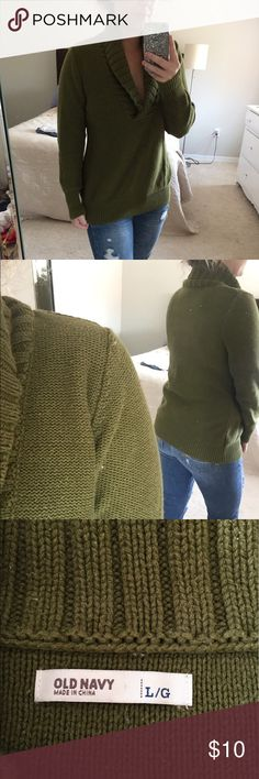 Old Navy Cowl Neck Sweater Green cowl neck sweater from Old Navy Old Navy Sweaters