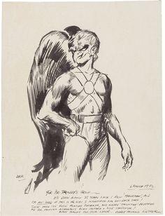 Everett Raymond Kinstler: Hawkman sketch (1972)