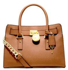 6b9f9f97bc Hamilton Lock Handbag Vanilla Brown Michael Kors Tote, Michael Kors  Hamilton, Handbags Michael Kors