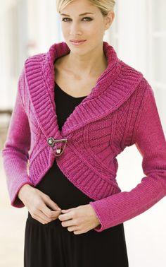 Neulottu naisen jakku Novita 7 Veljestä   Novita knits