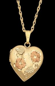 Black Hills Gold Heart Locket #2