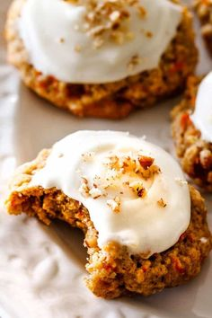 Soft and chewy Carrot Cake Cookies are everything you love about Carrot Cake in easy-to-make chewy cookie form! And of course, Carrot Cake wouldn't be Carrot Cake without tangy, rich and luscious Cream Cheese Frosting!