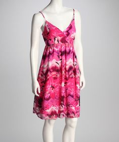 Take a look at this Fuchsia Flower Dress by Avital on #zulily today!