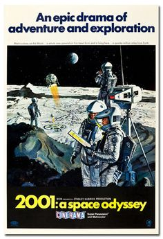 2001 A SPACE ODYSSEY Large Movie Poster STANLEY KUBRICK Cinerama Style A