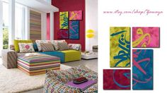 Arabic calligraphy paintings in modern style
