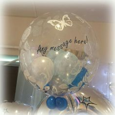 Butterflies, roses and your message! vipballoons.co.uk