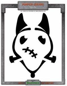 Sparky pumpkin carving cutout from Frankenweenie. Perfect for our front yard!