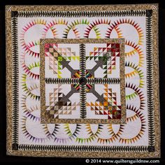 Data Garden by Belinda Betts. 1st prize, Excellence in Longarm Quilting, 2014 Quilters Guild of NSW Inc. (Australia)