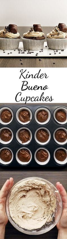 Kinder-Bueno-Cupcakes – so geht's Will someone please bake for me? Related posts: Kinder-Bueno-Cupcakes – so geht's Kinder Schoko-Bon-Cupcakes Kinder-Bueno-Kuchen ohne Backen Backen Kinder Bueno Kuchen Rezepte Cupcake Recipes, Baking Recipes, Cupcake Cakes, Snack Recipes, Dessert Recipes, Brownie Recipes, Fall Desserts, No Bake Desserts, Cookies Et Biscuits