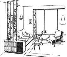 interieur uit de door Ep Simons samengestelde Baedeker 1962.
