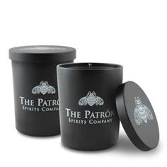 6 oz. Black Tumbler Soy Candle with Lid custom printed
