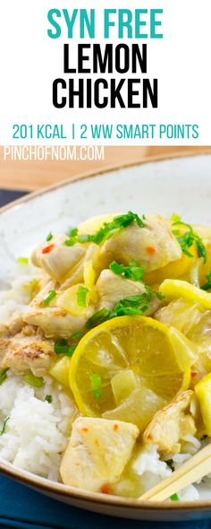 Syn Free Lemon Chicken | Pinch Of Nom Slimming World Recipes 201 kcal | Syn Free | 2 Weight Watchers Smart Points