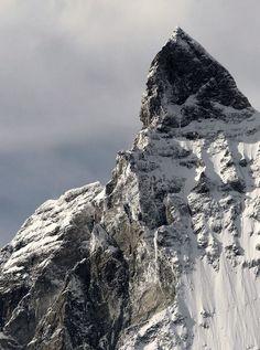 East Face of *Mount Matterhorn* (4,778 m) from Trockener Steg, Switzerland.