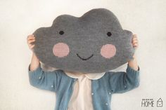Knit Cloud Pillow  GRAY by kokokoshop on Etsy, $50.00