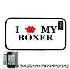 Boxer Paw Prints I Love My Dog iPhone 4 4S Case Cover by BlingSity, $13.95