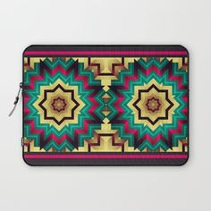 Geometric kaleidoscope with star shapes Laptop Sleeve