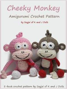 Cheeky Monkey Amigurumi Crochet Pattern