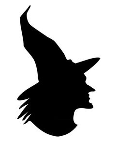 Printable witch silhouette is perfect for your Halloween decor.