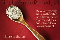 Smudge a tiny clay mask on an individual pimple and watch it shrink overnight