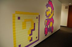 Have fun with your post-its while coming up with an idea for your next paper. Teach Like A Pirate, Post It Art, Nintendo Party, Mario Bros., Mario Party, Party Fun, Super Mario, Note Doodles, Arts And Crafts