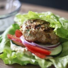 Delicious, fresh and healthy turkey burger.