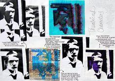 Art Theme Theatrical characters, Sketchbooks, Art Students at CAPI::: Create Art Portfolio Ideas milliande.com, Art School Portfolio Work, Sketching, Journal, Ideas, Design, Inspiration Log, Skizzenbuch, GCSE Art, A Level Art, Art College, IB, Art Teacher