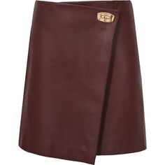Rocket OX BLOOD LEATHER MINI SKIRT (€340) ❤ liked on Polyvore featuring skirts, mini skirts, burgundy, leather, leather miniskirt, leather mini skirt, burgundy skirt, short mini skirts and short skirts