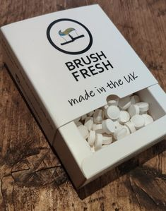 Brush Fresh Toothpaste Tablets (Created by Dentists) - One Month Yeast Extract, Work Family, Calcium Carbonate, Sodium Bicarbonate, Mouthwash, Oral Health, Personal Care, Fresh