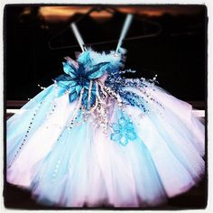 Snowflake Princess Tutu Dress by Tuturificdesign on Etsy, $130.00