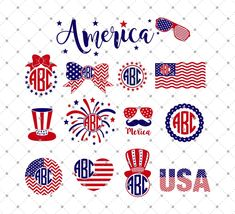 of July Independence day Fourth of July SVG Files for Cricut and Silhouette Etsy svg Fourth Of July Shirts, 4th Of July, Vinyl Projects, Diy Craft Projects, Cricut Vinyl, Vinyl Decals, Silhouette Cameo Projects, Monogram Letters, Vinyl Designs
