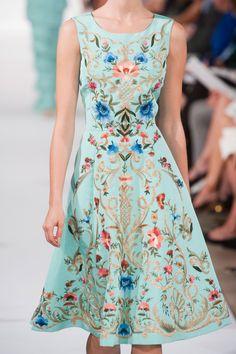 Oscar de la Renta at New York Fashion Week Spring 2014 / Water colored dress Fashion Weeks, Fashion Dresses, Renta Ss, Renta Spring, Income, New York Fashion, Spring 2014, Oscars, Haute Couture