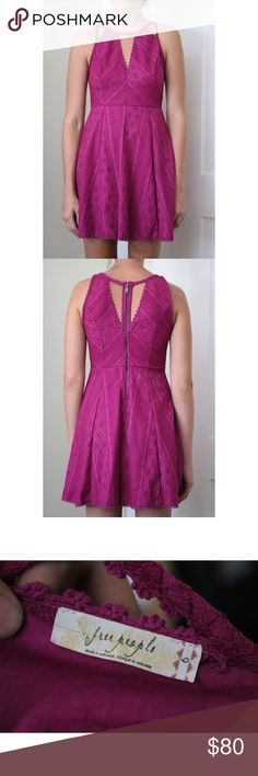 """Free People Textured Cut Out Dress New without tags. Never worn. Meant for someone shorter than 5'9"""". Free People Dresses Mini"""