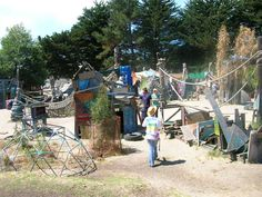 Adventure Park, Berkeley, CA - children are able to build their own playground from provided materials