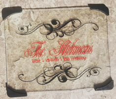 Personalized Cutting Board Glass Eat Drink and Be Merry